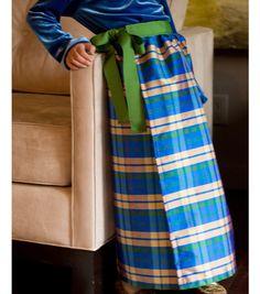 Plaid Taffeta Wrap Skirt
