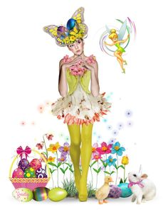 """Easter Dolly"" by judymjohnson ❤ liked on Polyvore featuring art"