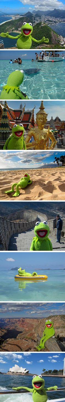 Kermit op wereldreis...