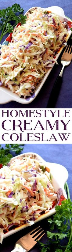 Homestyle Creamy Coleslaw - Lord Byron's Kitchen