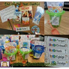End of the year swag that promotes summer reading.  Lots of freebies and resources in this post.