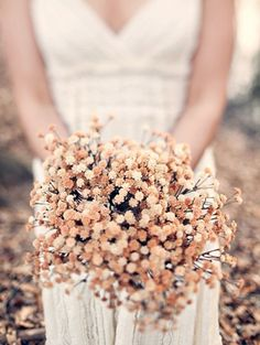 Dried Flowers: Dried flowers are a great way to make use of fresh flowers long after they're past their prime. If you had flowers at your engagement party or bridal shower, consider saving them for your walk down the aisle. And, it's eco-friendly!