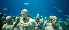 Human nature: Jason Decaires Taylor's Submerged figurative sculptures house thriving coral reefs