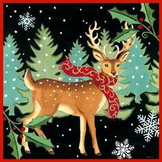 Deer Holly by Jennifer Brinley | Ruth Levison Design
