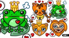 How To Draw Animals Hearts ♥ Designs For Valentines Day by Garbi KW