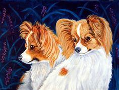 Papillon Dog Giclee Fine Art Print by Dog Art by by DogArtByLyn, $19.94