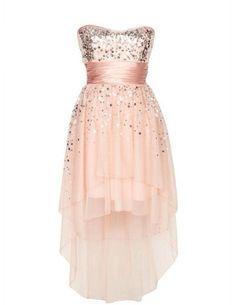 Pink high-low dress