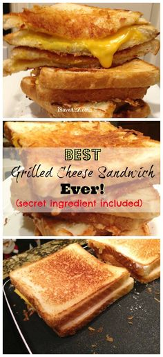 Grilled Cheese Sandwich with a secret ingredient! (You're not gonna believe what it is)!