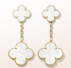 Van Cleef & Arpels Magic Alhambra earclips, 2 motifs