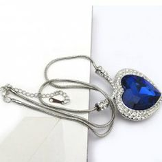 $6.57 Brilliant Rhinestoned Crystal Embellished Heart Pendant Necklace For Women