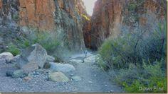 Closed Canyon, a narrow slot canyon in Big Bend Ranch State Park, near the Rio Grande.
