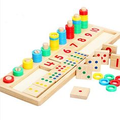 Home Flight Tracker Children Wooden Montessori Toys Early Colorful Digital Counting Shape Matching Learning Puzzle Math Sensory Toys For Boys Girls Crazy Price