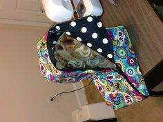 Boot bag out of a homemade pattern!