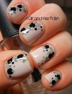 Here Are the #Coolest 38 Polka Dot Nail Art Patterns in the World ...