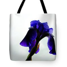 Very Blue Iris Tote Bag by Tina M Wenger