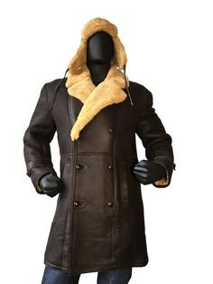 Sheepskin Napa Finish Trench Coat Style #4400 MENS