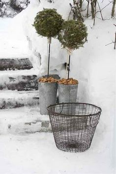 Trädgårdsflow: Soffhörna ute á la vinter