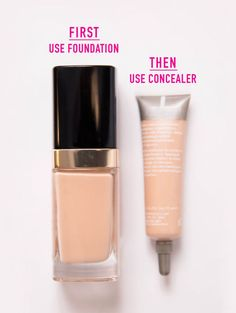 Otherwise, you'll just end up removing it as you apply your base. If you apply foundation before concealer, you won't have to use as much concealer. To see a full article on this technique, click here.