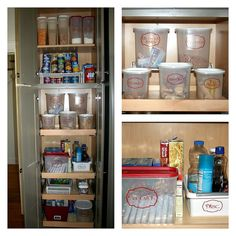 A Professional Organizer's pantry! Love the custom vinyl labels from etsy.com