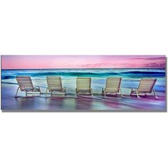 Trademark Art Party Of Five Canvas Wall Art by Preston, Size: 16 x 47, Multicolor