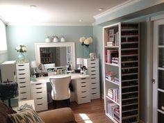 Makeup room and storage