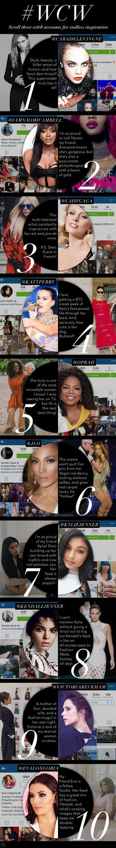 Beyond the Brow | Official Blog of Anastasia Beverly Hills - #WCW: Top Ten Celeb IG Accounts