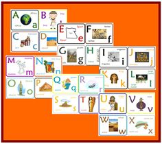 Go to Sprouting Tadpoles to download free Ancient Egypt ABC cards. Find more free history printables here!