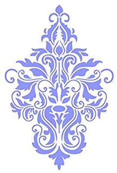 Damask Stencil - 6 x 9 inch (M) - Reusable Large Floral Allover Pattern Wall Stencil Template - Use On Paper Projects Scrapbook Journal Walls Floors Fabric Furniture Glass Wood Etc. Painting Templates, Stencil Templates, Stencil Patterns, Stencil Designs, Wall Patterns, Stencils, Damask Stencil, Home Bild, Etiquette Vintage
