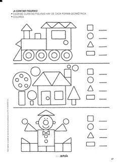 Preschool Shapes Worksheets for January. Shapes Worksheets, Kindergarten Math Worksheets, Preschool Learning Activities, Worksheets For Kids, Preschool Activities, Kids Learning, Preschool Shapes, Teaching Shapes, Math For Kids