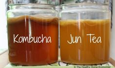 Jun Tea (Kombucha Champagne) is made with green tea and honey as opposed to kombucha which is made from black tea and sugar. This is an easy recipe and video for fermented Jun tea. Probiotic Foods, Fermented Foods, Kimchi, Tea Recipes, Real Food Recipes, Jun Tea, Jun Kombucha, Kombucha Scoby, Tibicos