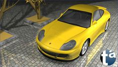 502 - TAEVision 3D MechanicalDesign Automotive Porsche 996 ... Reflections, Lights and Shadows PORSCHE 996 ... Porsche996 (A View Front-Side) Dr. Ing. h.c. F. Porsche AG
