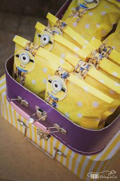 Minion themed birthday party with So Many Fabulous Ideas via Kara's Party Ideas… Minion Party Theme, Despicable Me Party, Minion Birthday, Boy Birthday, Birthday Ideas, Party Box, 3rd Birthday Parties, Childrens Party, Party Planning