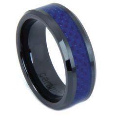 Trendy Black Ceramic Ring Men's Jewelry Wedding by CDesignsFashion