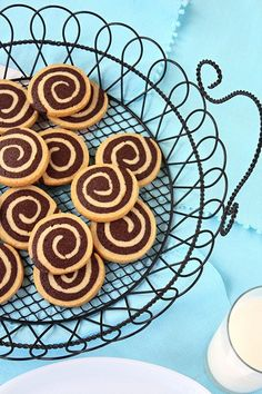 SugaryWinzy Chocolate Pinwheel Cookies....this one reminds me most closely of how my grandmother used to make them