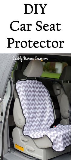 DIY Car Seat Protector- I could totally use this with my messy snacking boys in the van!