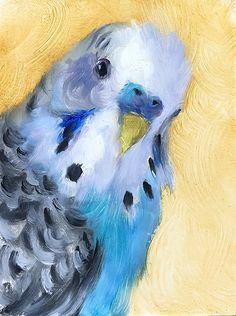 Budgie by Johanne Mangi Oil ~ 8 x 6 Bird Painting Acrylic, Acrylic Painting Inspiration, Watercolor Bird, Watercolor Paintings, Bird Drawings, Animal Drawings, Animal Paintings, Bird Paintings, Ecole Art