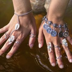 """""""✨ L u m i n e s c e n c e ✨ AW15~ Coin Bracelet & Crystal Oracle Rings are online now, Fine Silver Snake, Cross & Arrow rings online tonight along with…"""""""