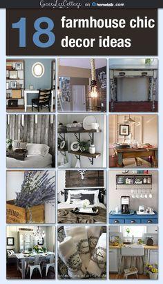 18 Farmhouse chic decor ideas