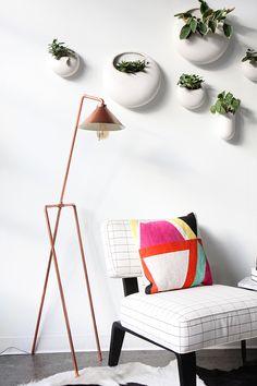 DIY: copper pipe floor lamp