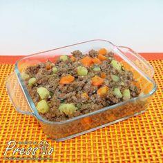 Carne Moída com Legumes na Pressão | Receitas na Pressão