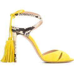 Casadei Tassel Detail Stiletto Sandals (2 845 PLN) ❤ liked on Polyvore featuring shoes, sandals, casadei shoes, stiletto sandals, suede sandals, tassel shoes and high heel stilettos