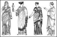 Ancient Greek Costume History | Pictures showing how to recreate a ...