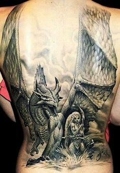Dragon tattoo Jamestattooart.hu