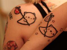 Awww it's my ghost kitty tattoo I randomly came across. :P