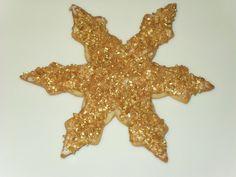 Sparkly Gold Snowflake Sugar Cookie