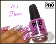 Betty Nails: Mollon Pro 194 - Deseo [acrylic free-hand nailart ]