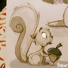 Squirrel! by patione.deviantart.com on @DeviantArt