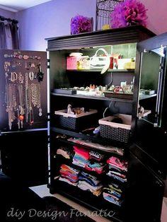 Repurposed TV armoire