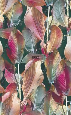 没有回头   手绘   叶子 - 面料花型设计 D027260 - MyDigitex Textile Prints, Textile Design, Fabric Patterns, Print Patterns, Watercolor Leaves, Surface Pattern Design, Plant Leaves, Quilts, Drawings