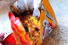 Frito Chili Pie via @PioneerWoman - maybe do these for Halloween party
